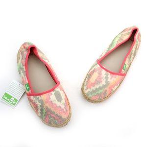 Sanuk Shoes - Sanuk Mya Orange Multi Espadrille Flats NEW!